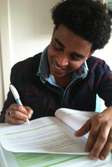 Amin doet z'n huiswerk