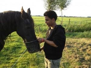 Amin en paard water